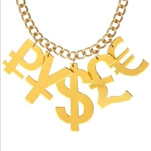 Tatty Devine gold money necklace